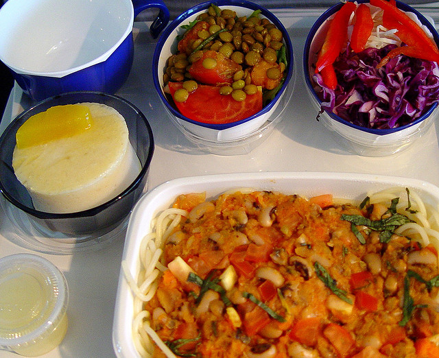 Vegan meal on Japan Airlines