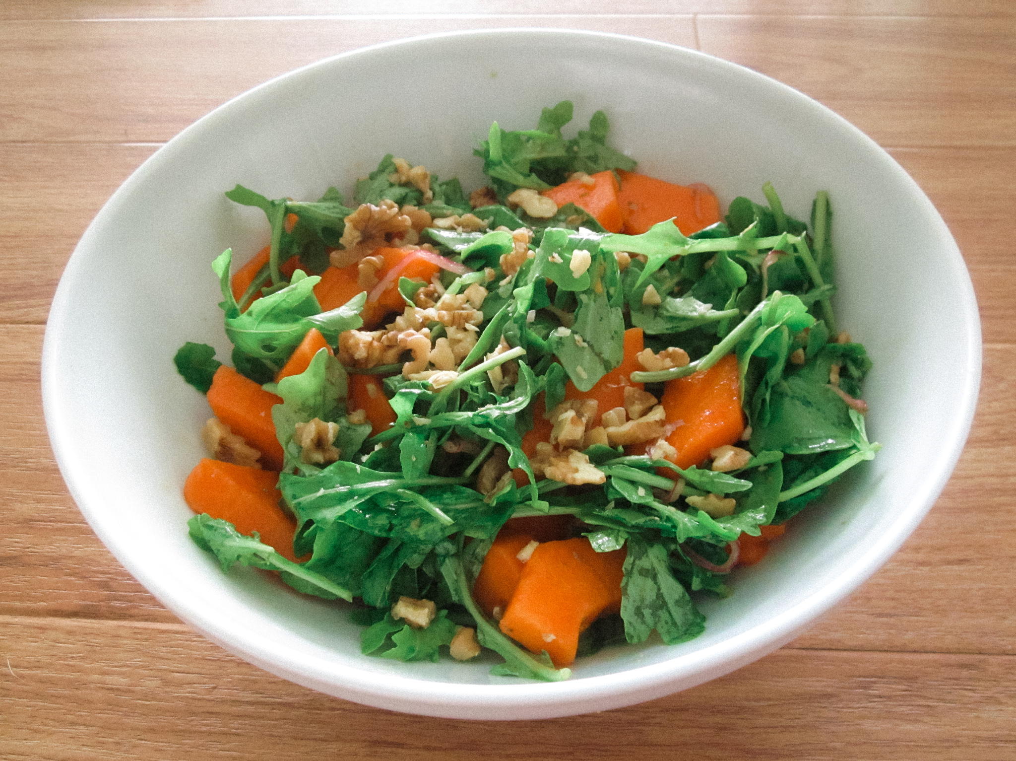 arugula-papaya-walnut-salad-recipe