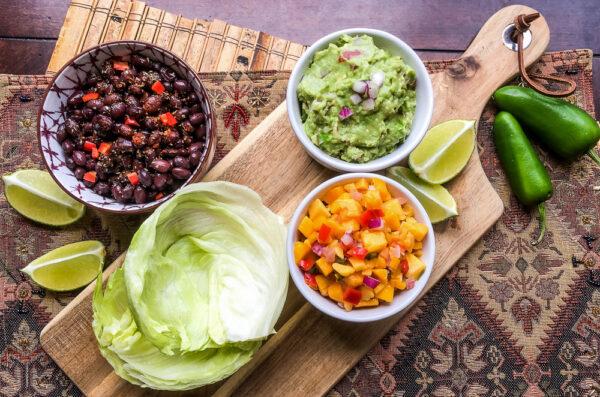 black-bean-lettuce-wraps